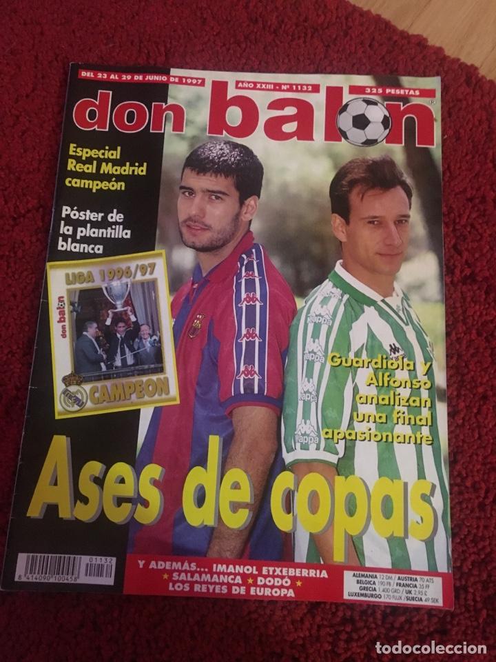 DON BALÓN REAL MADRID LIGA RAÜL LIGA 1997 ASES GUARDIOLA 1132 (Coleccionismo Deportivo - Revistas y Periódicos - otros Fútbol)