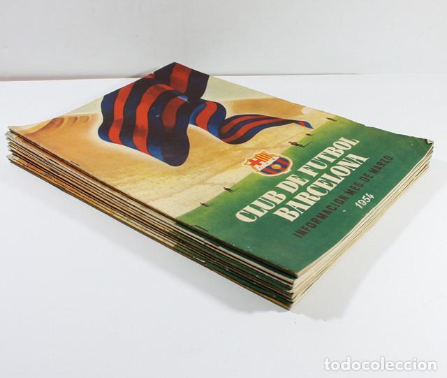 LOTE 13 REVISTAS BOLETINES CLUB DE FUTBOL BARCELONA INFORMACION MES ENTRE 1954 A 1956 BARÇA (Coleccionismo Deportivo - Revistas y Periódicos - otros Fútbol)