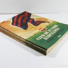 Coleccionismo deportivo: LOTE 13 REVISTAS BOLETINES CLUB DE FUTBOL BARCELONA INFORMACION MES ENTRE 1954 A 1956 BARÇA. Lote 137152278