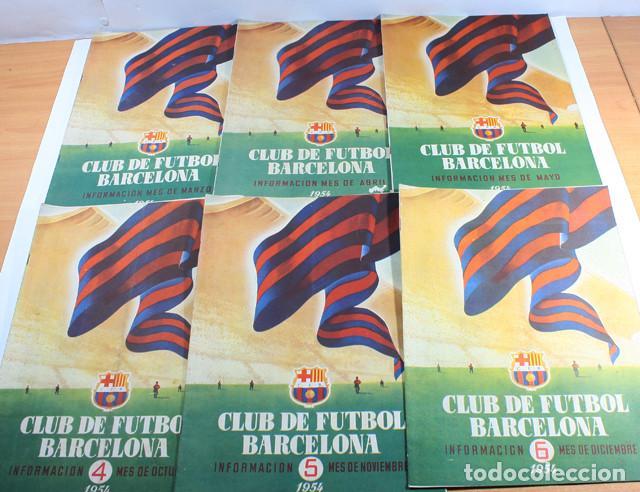 Coleccionismo deportivo: LOTE 13 REVISTAS BOLETINES CLUB DE FUTBOL BARCELONA INFORMACION MES ENTRE 1954 A 1956 BARÇA - Foto 2 - 137152278