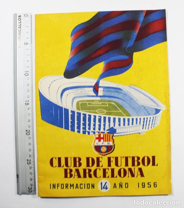 Coleccionismo deportivo: LOTE 13 REVISTAS BOLETINES CLUB DE FUTBOL BARCELONA INFORMACION MES ENTRE 1954 A 1956 BARÇA - Foto 4 - 137152278
