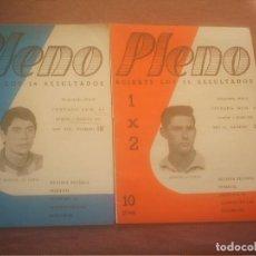 Coleccionismo deportivo: SPORTING DE GIJON 1971 REVISTA PLENO Nº 301 Y 318,JOSE MANUEL ,ALONSO. Lote 137256890