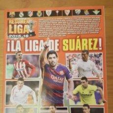 Coleccionismo deportivo: BARÇA CAMPEON DE LIGA. RESUMEN LIGA 2015/16 REVISTA JUGON. LA LIGA DE SUAREZ FC BARCELONA. Lote 137545248