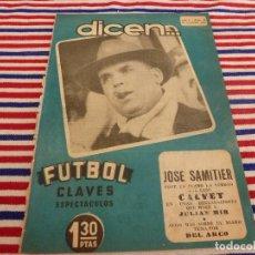 Coleccionismo deportivo: (ABJ)DICEN Nº: 10(15-11-52) JOSÉ SAMITIER,MARCADOR SIMULTANEO DARDO.. Lote 137631030