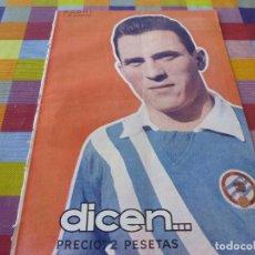 Coleccionismo deportivo: (ABJ)-DICEN Nº:212(3-11-56)RODRI(CONDAL)MEMORIAS PACO BRU,MANCHON(BARÇA)JOAQUIN BLUME. Lote 137657234