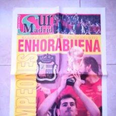 Coleccionismo deportivo: PERIÓDICO SUR MADRID, CAMPEONES DEL MUNDO 2010. Lote 137880086