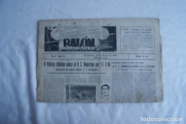 MUY RARO BALON SEMANARIO DEPORTIVO A CORUÑA 1945 (Coleccionismo Deportivo - Revistas y Periódicos - otros Fútbol)