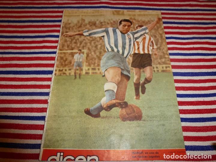 (ABJ)DICEN Nº:93(26-6-54)MARCET(ESPAÑOL) KUBALA Y BASORA(BARÇA) (Coleccionismo Deportivo - Revistas y Periódicos - otros Fútbol)
