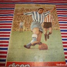 Collectionnisme sportif: (ABJ)DICEN Nº:93(26-6-54)MARCET(ESPAÑOL) KUBALA Y BASORA(BARÇA). Lote 138128990