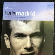 Coleccionismo deportivo: REVISTA HALA MADRID Nº 8 SEPTIEMBRE NOVIEMBRE 2003 REAL MADRID ZIDANE. Lote 138296026