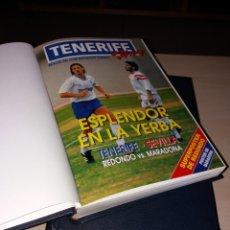 Coleccionismo deportivo: TRES TOMOS DE REVISTAS DEL CD TENERIFE - TENERIFE HOY - AÑOS 90. Lote 138586488
