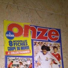 Coleccionismo deportivo: ONZE N° 74, AÑO 1982. REVISTA FÚTBOL. 8 FICHAS DE RECORTE VER FOTOS. Lote 138822958