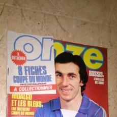 Coleccionismo deportivo: ONZE N° 73. AÑO 1982. REVISTA FÚTBOL, FRANCIA VER FOTOS. 8 FICHAS DE COLECCIÓN. Lote 138893302
