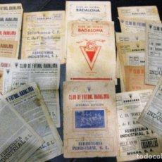 Coleccionismo deportivo: LOTE 25 REVISTA DEL CLUB DE FUTBOL BADALONA AÑOS 1947 - 48 -50. Lote 138898250