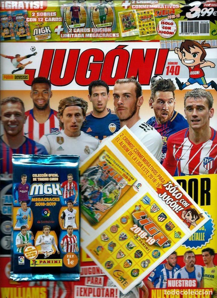 JUGON Nº 140 SIN DESPRECINTAR - PANINI 2018 - CON CROMOS CONMEMORATIVOS ESTE 2018-19 Y MEGACRACKS (Coleccionismo Deportivo - Revistas y Periódicos - otros Fútbol)