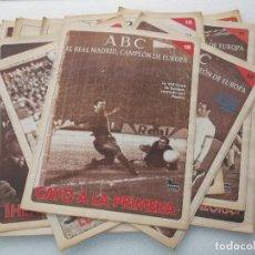 Coleccionismo deportivo: EL REAL MADRID CAMPEÓN DE EUROPA ABC - 19 NÚMEROS. Lote 139386658