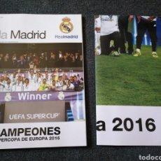 Coleccionismo deportivo: REVISTA HALA MADRID N° 60 MAGAZINE 2016 CAMPEON UEFA SUPERCUP REAL MADRID POSTER. Lote 139539854