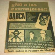 Coleccionismo deportivo: BARÇA Nº 748 . NO A LOS EXTRANJEROS¡. MARZO 1970.. Lote 139689206