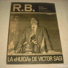 Coleccionismo deportivo: RB. REVISTA BARCELONISTA. Nº 681, ABRIL 1978. EN PORTADA BOMBA ELECTORAL.HUIDA DE VICTOR SAGUI.. Lote 139690538