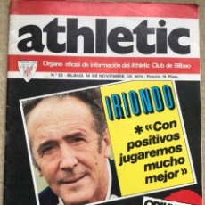 Coleccionismo deportivo: ATHLETIC N° 23 - ÓRGANO OFICIAL INFORMACIÓN ATHLETIC DE BILBAO - IRIONDO - PÓSTER DE ESCALZA. Lote 139710938