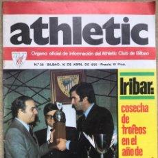 Coleccionismo deportivo: ATHLETIC N° 28 - ÓRGANO OFICIAL INFORMACIÓN ATHLETIC DE BILBAO - IRIBAR - PÓSTER DE VIDAL. Lote 139711986