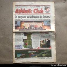 Coleccionismo deportivo: PERIÓDICO OFICIAL DEL ATHLETIC CLUB N°68 (JUNIO, 2002). PLAN DIRECTOR DE LEZAMA.. Lote 140004142