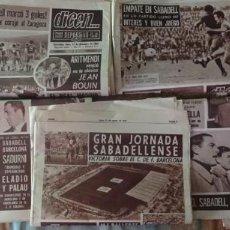 Coleccionismo deportivo: LOTE DE 9 PERIÓDICOS DICEN , CON NOTICIAS DEL C.D.SABADELL EN PRIMERA DIVISIÓN , 66-67, VER FOTOS. Lote 140006854