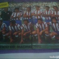 Coleccionismo deportivo: ATLETICO DE MADRID 1971-72 POSTER REVISTA ATLETICA . Lote 140040502