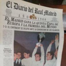 Coleccionismo deportivo: REAL MADRID - 10 PERIODICOS HISTORICOS SEGUIDOS ( 1940 - 1950). Lote 140095238