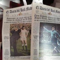 Coleccionismo deportivo: REAL MADRID - 10 PERIODICOS HISTORICOS SEGUIDOS ( 1970 - 1980). Lote 140095982