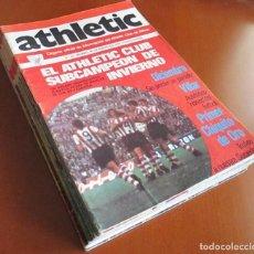 Coleccionismo deportivo: REVISTA OFICIAL ATHLETIC CLUB DE BILBAO LOTE DE 13 REVISTAS AÑOS 70. Lote 140219090