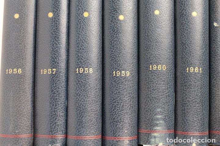 Coleccionismo deportivo: L-5219. REVISTA BARÇA ENCUADERNADA 20 TOMOS DESDE EL AÑO 1956 HASTA AÑO 1975. COMPLETOS. - Foto 4 - 140403982