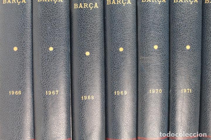 Coleccionismo deportivo: L-5219. REVISTA BARÇA ENCUADERNADA 20 TOMOS DESDE EL AÑO 1956 HASTA AÑO 1975. COMPLETOS. - Foto 6 - 140403982