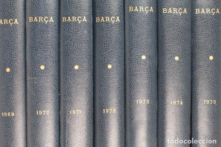 Coleccionismo deportivo: L-5219. REVISTA BARÇA ENCUADERNADA 20 TOMOS DESDE EL AÑO 1956 HASTA AÑO 1975. COMPLETOS. - Foto 7 - 140403982