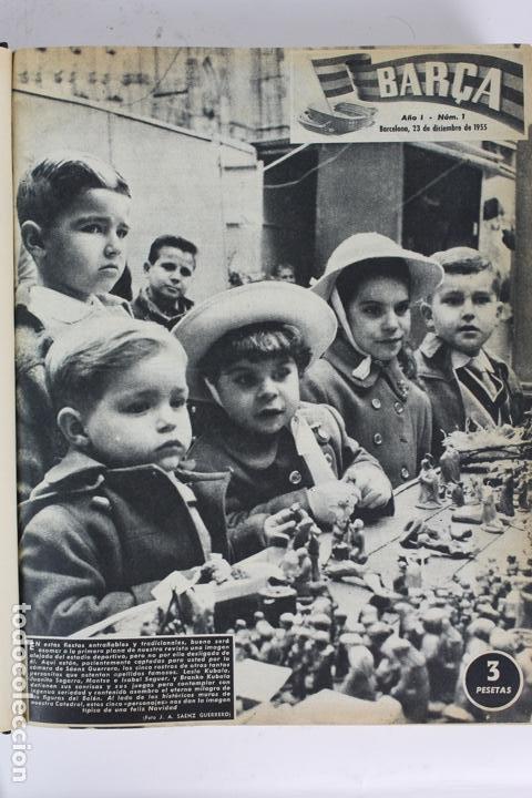 Coleccionismo deportivo: L-5219. REVISTA BARÇA ENCUADERNADA 20 TOMOS DESDE EL AÑO 1956 HASTA AÑO 1975. COMPLETOS. - Foto 11 - 140403982