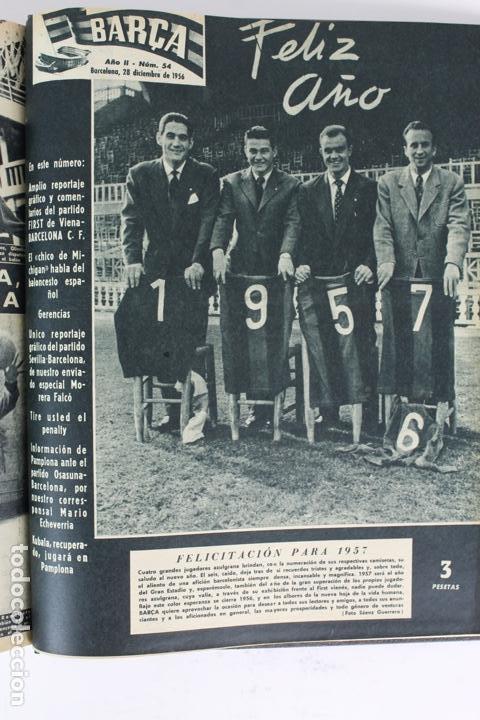 Coleccionismo deportivo: L-5219. REVISTA BARÇA ENCUADERNADA 20 TOMOS DESDE EL AÑO 1956 HASTA AÑO 1975. COMPLETOS. - Foto 13 - 140403982