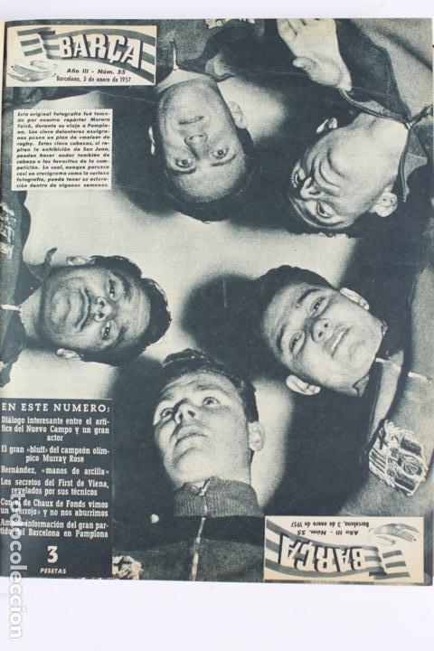 Coleccionismo deportivo: L-5219. REVISTA BARÇA ENCUADERNADA 20 TOMOS DESDE EL AÑO 1956 HASTA AÑO 1975. COMPLETOS. - Foto 14 - 140403982