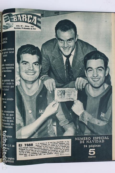 Coleccionismo deportivo: L-5219. REVISTA BARÇA ENCUADERNADA 20 TOMOS DESDE EL AÑO 1956 HASTA AÑO 1975. COMPLETOS. - Foto 15 - 140403982