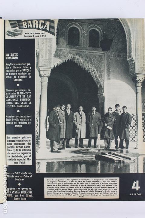 Coleccionismo deportivo: L-5219. REVISTA BARÇA ENCUADERNADA 20 TOMOS DESDE EL AÑO 1956 HASTA AÑO 1975. COMPLETOS. - Foto 16 - 140403982