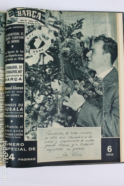 Coleccionismo deportivo: L-5219. REVISTA BARÇA ENCUADERNADA 20 TOMOS DESDE EL AÑO 1956 HASTA AÑO 1975. COMPLETOS. - Foto 17 - 140403982