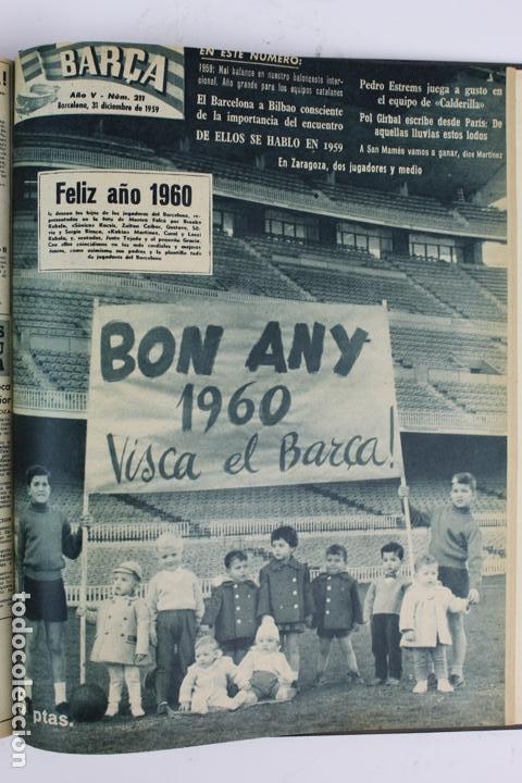 Coleccionismo deportivo: L-5219. REVISTA BARÇA ENCUADERNADA 20 TOMOS DESDE EL AÑO 1956 HASTA AÑO 1975. COMPLETOS. - Foto 19 - 140403982