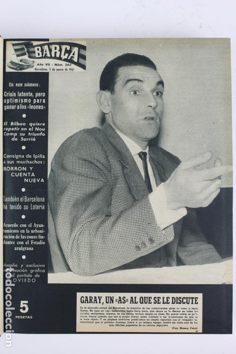 Coleccionismo deportivo: L-5219. REVISTA BARÇA ENCUADERNADA 20 TOMOS DESDE EL AÑO 1956 HASTA AÑO 1975. COMPLETOS. - Foto 22 - 140403982