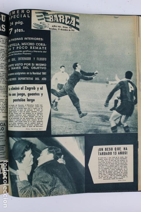 Coleccionismo deportivo: L-5219. REVISTA BARÇA ENCUADERNADA 20 TOMOS DESDE EL AÑO 1956 HASTA AÑO 1975. COMPLETOS. - Foto 23 - 140403982