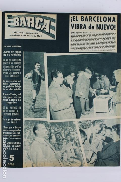 Coleccionismo deportivo: L-5219. REVISTA BARÇA ENCUADERNADA 20 TOMOS DESDE EL AÑO 1956 HASTA AÑO 1975. COMPLETOS. - Foto 24 - 140403982