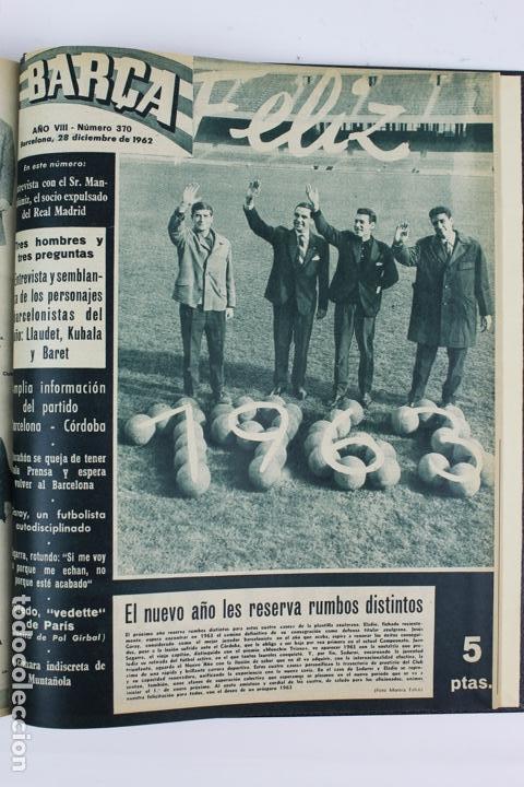 Coleccionismo deportivo: L-5219. REVISTA BARÇA ENCUADERNADA 20 TOMOS DESDE EL AÑO 1956 HASTA AÑO 1975. COMPLETOS. - Foto 26 - 140403982