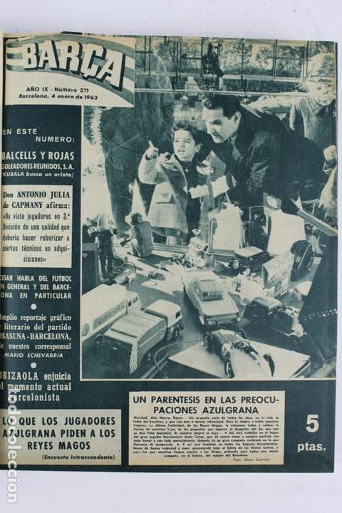 Coleccionismo deportivo: L-5219. REVISTA BARÇA ENCUADERNADA 20 TOMOS DESDE EL AÑO 1956 HASTA AÑO 1975. COMPLETOS. - Foto 27 - 140403982