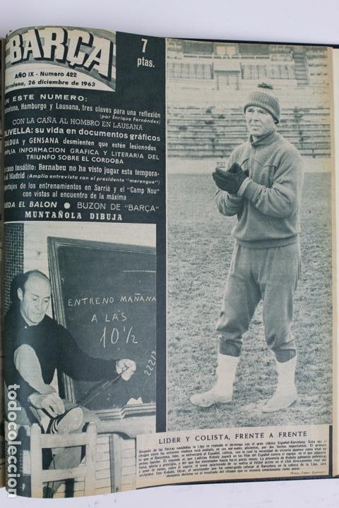 Coleccionismo deportivo: L-5219. REVISTA BARÇA ENCUADERNADA 20 TOMOS DESDE EL AÑO 1956 HASTA AÑO 1975. COMPLETOS. - Foto 28 - 140403982