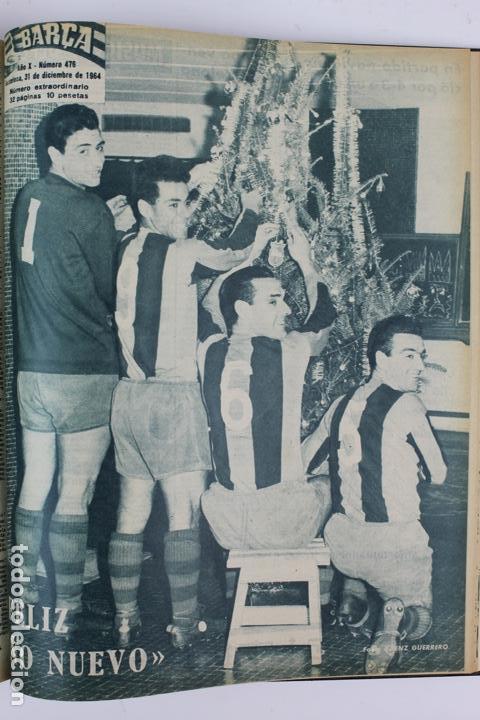 Coleccionismo deportivo: L-5219. REVISTA BARÇA ENCUADERNADA 20 TOMOS DESDE EL AÑO 1956 HASTA AÑO 1975. COMPLETOS. - Foto 30 - 140403982