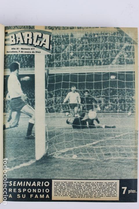 Coleccionismo deportivo: L-5219. REVISTA BARÇA ENCUADERNADA 20 TOMOS DESDE EL AÑO 1956 HASTA AÑO 1975. COMPLETOS. - Foto 31 - 140403982