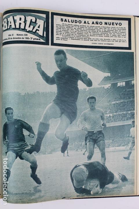 Coleccionismo deportivo: L-5219. REVISTA BARÇA ENCUADERNADA 20 TOMOS DESDE EL AÑO 1956 HASTA AÑO 1975. COMPLETOS. - Foto 32 - 140403982